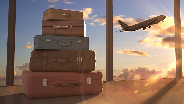 Airplane and Luggage