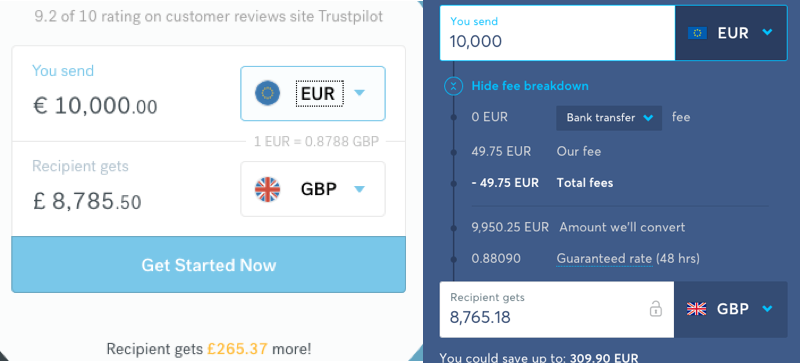 currencyfair-rates-versus-transferwise-rates