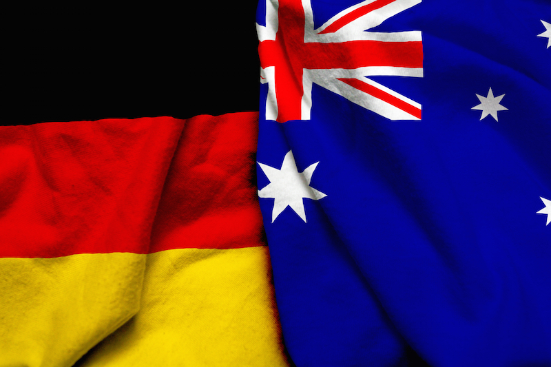 germany australia flags together