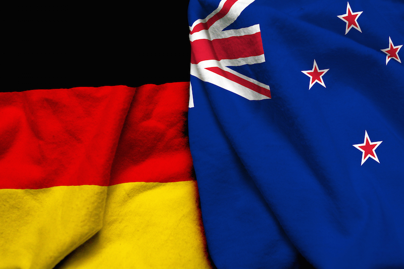 germany new zealand flags together