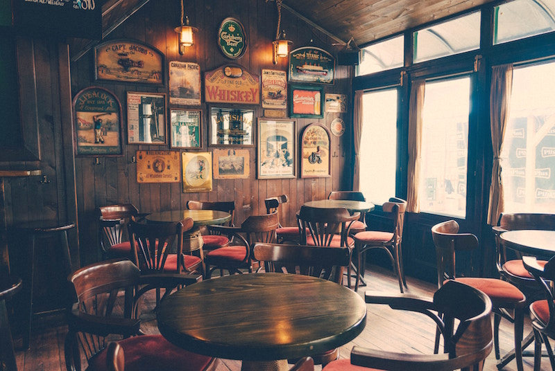 photo of inside of old english pub
