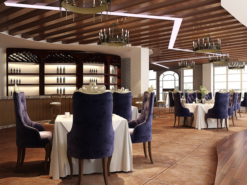 expensive restaurant with fancy interiors