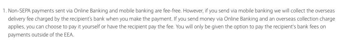 Explainer of Barclays overseas transfer charges