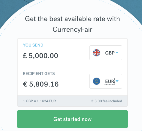 Exchange 5000GBP to Euro CurrencyFair