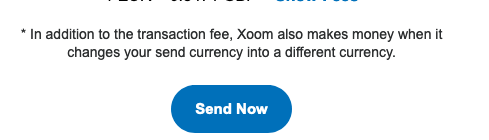 Explanation of Xoom transfer fees