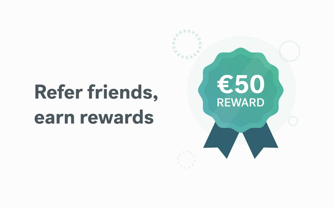 badge showing €50 reward